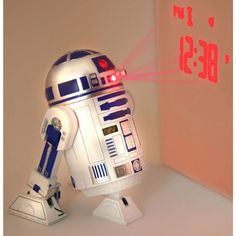 Star Wars Merchandise R2d2 Led Alarm Clock Size 5 X 6