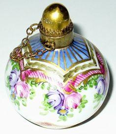 Limoges - Vintage Floral Perfume Bottle - by Peint Main