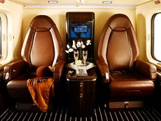 Interior of a Luxurious Private helicopter