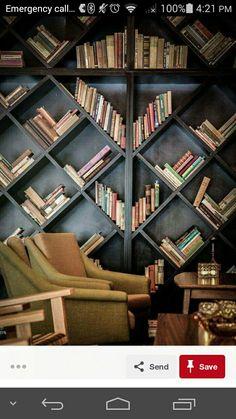 On the diagonal bookcase
