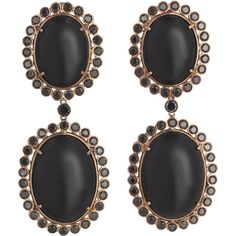 Jack Vartanian Black Diamond & Agate Crown Earrings ($10,530) ❤ liked on Polyvore