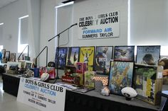 Some of the many live auction items from the Boys & Girls Club celebrity Auction held in August 2016 at Trinity United Methodist Church in Greeneville, Tennessee