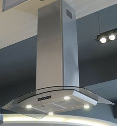 Kitchen Bath Collection 36-inch Island-mounted Stainless Steel Range Hood with Arched Tempered Glass, Seamless Chimney & Touch Screen Control Panel Kitchen Bath Collection http://www.amazon.com/dp/B004VUD41C/ref=cm_sw_r_pi_dp_UKhDub0HWV005