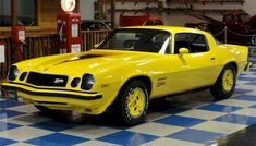 Example of Bright Yellow paint on a 1977 GM Camaro Z28