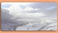 Grafikschild winterliche Bergwelt