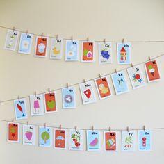 Nursery Art Print Alphabet CardsContemporary by petitflaneur, $28.00
