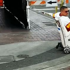 The guy came up with a good way to move around the city streets