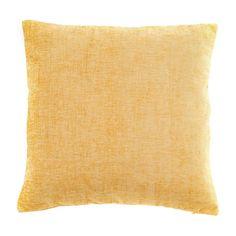 Chenille Ochre Cushion   Dunelm