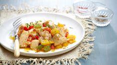 Τηγανιά με κοτόπουλο και πιπεριές