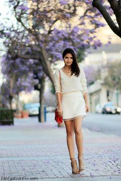 Elegant all white spring look