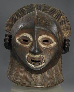 Helmet mask                         Artist Unknown (Luba)       (Democratic Republic of Congo, Africa), 19th century                                    Wood, pigments