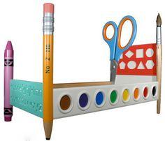Joyful and creative colorful kids bed