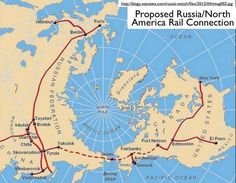 Russian-proposed railway from New York to Paris