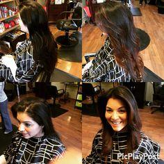 #beforeandafter #wella #bayalage #color #brunette #caramel #haircut
