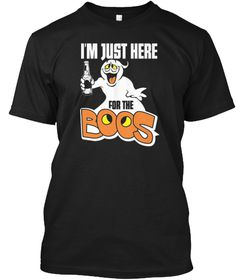 Ghost I'm Just Here For The Boos T Shirt Black T-Shirt Front