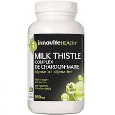 Innovite Health Milk Thistle (Silymarin Complex), 120 Capsules BONUS: NO magnesium stearite!