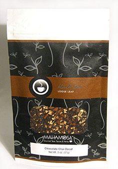 Mahamosa Chocolate Chai Decaf Tea 2 oz (with chocolate, green cardamom, cinnamon, ginger) - Decaffeinated Black Tea Loose Leaf (Looseleaf), Dessert Tea *** Continue to the product at the image link.