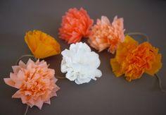 Como hacer una guirnalda con flores de papel. Este verano, otoño o en la…