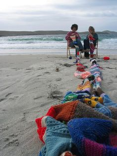 Perfect #knitting at the beach!