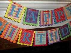 Happy Birthday  Banner   Fiesta of Colors and by APaperPlayground, $19.00