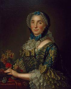 1753-1755 Madame Pierre de Rigaud de Vaudreuil, née Jeanne-Charlotte de Fleury Deschambault by ?