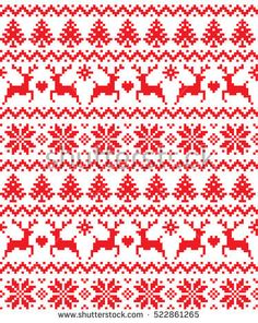 New Year's Christmas pattern pixel, card - scandynavian Norwegian sweater style Cross Stitch Borders, Cross Stitch Charts, Cross Stitch Designs, Cross Stitching, Cross Stitch Embroidery, Embroidery Patterns, Cross Stitch Patterns, Christmas Charts, Christmas Stocking Pattern