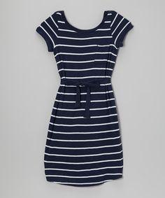 Another great find on #zulily! Splendid Navy & White Stripe Dress - Girls by Splendid #zulilyfinds