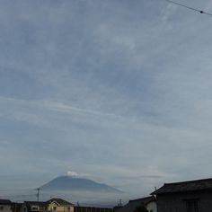 昨日の朝今朝は曇りで見えない #mtfuji #observation #イマフジ #定点観測