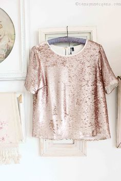 Topshop Sequinned Top | The Villa on Mount Pleasant
