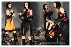 "First look of AW12-13 ""Collections"" Steven Meisel for Vogue Italia"