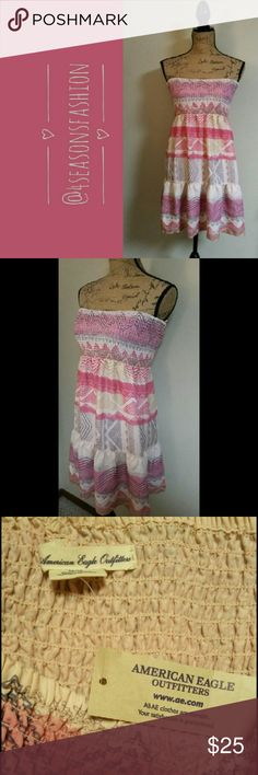 🎄CHECK THIS OUT 🎄 AMERICAN EAGLE STRAPLESS DRESS. SUPER CUTE. AMERICAN EAGLE  Dresses