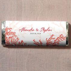 Reef Coral Chocolate Bar BULK DISCOUNT  Everything But The Wedding Dress, www.EverythingButTheWeddingDress.com