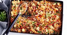 Better-for-you fried rice cooked in the one pan in the oven – it's a midweek meal miracle!