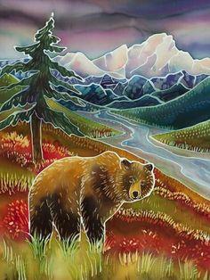 Cool Paintings, Original Paintings, Native American Symbols, Batik Art, Tile Murals, Bear Art, Silk Painting, Find Art, Fine Art America