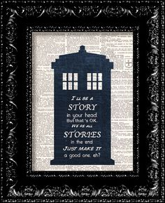 I MUST get one of these!  Doctor Who  Matt Smith We're All Stories In by TheRekindledPage, $8.98