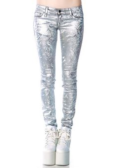 kill city melting holographic jeans from Dolls Kill $55.00