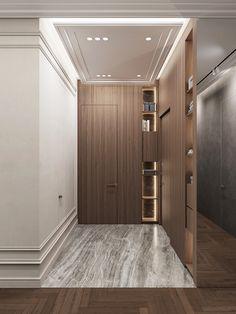 "Дизайн трёхкомнатной квартиры в ЖК ""Русский дом"" Hallway Designs, Foyer Design, Home Room Design, Deco Design, House Design, Dream House Interior, Luxury Homes Interior, Interior Architecture, Modern Classic Interior"