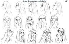 I loved these Honey Lemon drawings.