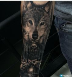 The path of a lone wolf. Good concept for a tattoo - Tattoo, Tattoo ideas, Tattoo shops, Tattoo actor, Tattoo art Wolf Tattoos, Wolf Tattoo Back, Small Wolf Tattoo, Wolf Tattoo Sleeve, Unicorn Tattoos, Cool Small Tattoos, Dream Tattoos, Lion Tattoo, Animal Tattoos