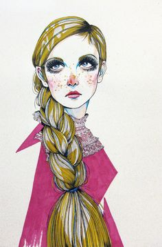 Twiggy illustration :) by Natalie Suarez