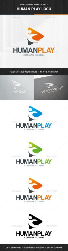 Human Play Logo Template Vector EPS, AI. Download here: http://graphicriver.net/item/human-play-logo-template/14035337?ref=ksioks