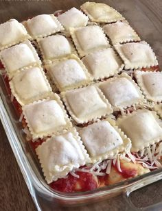 3 Ingredient Ravioli Bake (A. Lazy Lasagna) 3 Ingredient Ravioli Bake (A. Easy Baked Ravioli Recipe, Ravioli Bake, Ravioli Casserole, Macaroni Casserole, Burrito Casserole, Lazy Lasagna, Veggie Lasagna, 3 Ingredient Recipes, Meatloaf Recipes