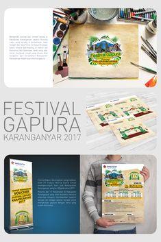 Poster dan beberapa media promosi beserta ketentuan desain gapura untuk Festival Gapura Karanganyar 2017 #festival #event #karanganyar