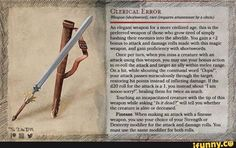 Homebrewing shop Clerical Error, a weapon for the more. Dungeons And Dragons Homebrew, D&d Dungeons And Dragons, Dnd Stories, Dnd Dragons, Dungeon Master's Guide, Dnd 5e Homebrew, Dnd Monsters, Cleric, Weapon Concept Art