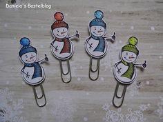 Daniela´s Bastelblog: Schneemann-Paperclips