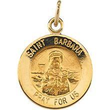 SAINT BARBARA FIND YOUR FAVORITE PATRON SAINT 925 STERLING SILVER MEDAL