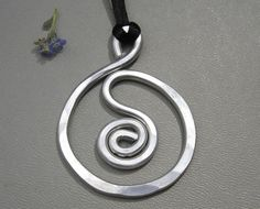 Big Spiral in a Circle Pendant Necklace  by nicholasandfelice, $12.50