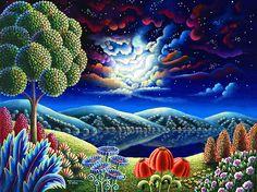 Virtual Museum, best of contemporary visual art, page 48 Fantasy Landscape, Landscape Art, Landscape Paintings, Landscapes, Hope Painting, Hope Art, Murals Your Way, Southwestern Art, Mosaic Pictures