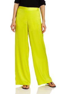Amazon.com: BCBGMAXAZRIA Women's Joan Woven Sportswear Pant, Bright Lemon, Small: Clothing
