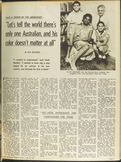 Faith Bandler proved very effective in getting the message about the plight of Aboriginal people ou to wider Australia. 10 May 1967 - The Australian Women's Weekly.